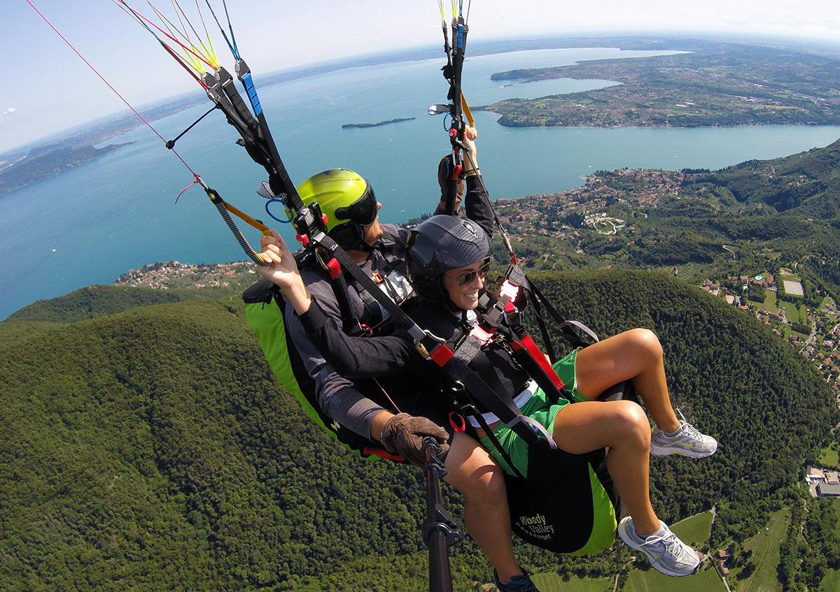 Volo in Parapendio Tandem Lago di Garda Brescia